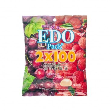 EDO PACK - Gummy lychee Grape - 120G