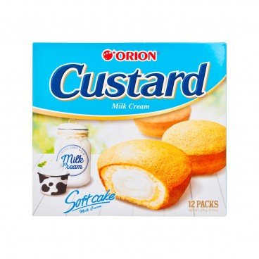 ORION Cake custard Milk 12'S