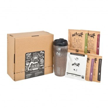 FAIR TASTE - On the go Coffee Gift Box yellow - SET