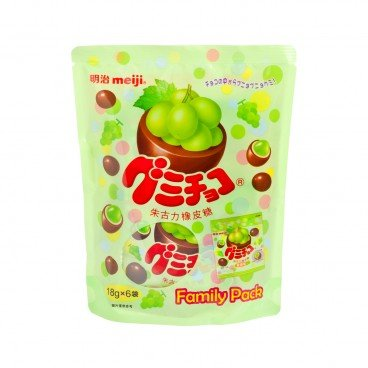 MEIJI Gummy Chocolate green Grape 18GX6
