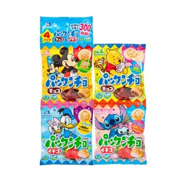 MORINAGA - Disney Biscuits chocolate Strawberry - 15.5GX4