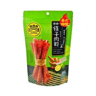 BLACKBRIDGE Thick Grilled Pork Jerky With Thai Lemon 100G