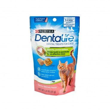 DENTALIFE Daily Oral Care Salmon Cat Treats 1.8OZ
