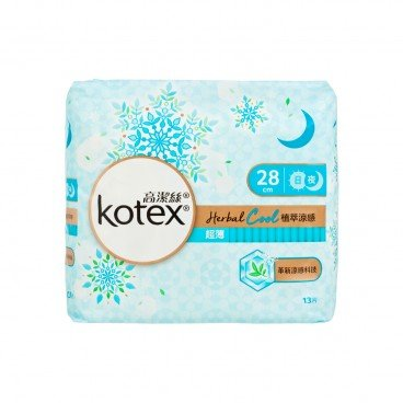 KOTEX Herbal Cool Uw Nw 28 cm 13'S