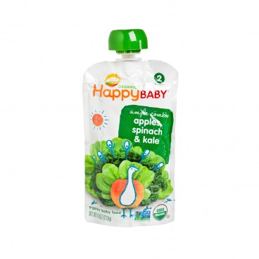 HAPPY BABY Organic Apple Spinach Kale 113G