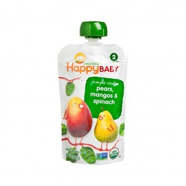 HAPPY BABY(PARALLEL IMPORT) - Organic Pear Mango Spinach - 113G