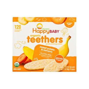 HAPPY BABY Organic Banana Sweet Potato Wafers 48G