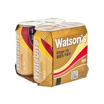 WATSONS - Ginger Ale - 330MLX4