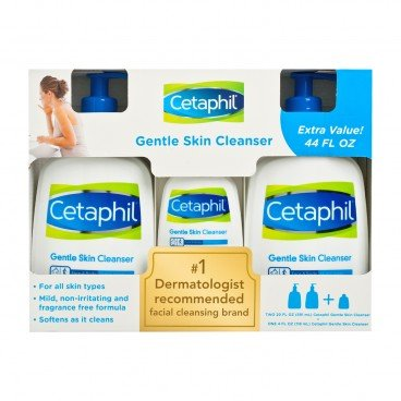 CETAPHIL(PARALLEL IMPORT) - Gentle Skin Cleanser Set - 591MLX2+118ML