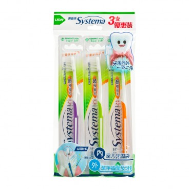 SYSTEMA Toothbrush Pack compact Head 3'S