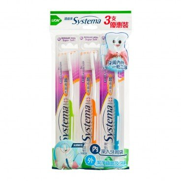 SYSTEMA - Toothbrush Pack regular Head - 3'S