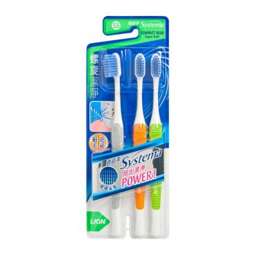SYSTEMA Spiral Toothbrush Pack compact Head 3'S