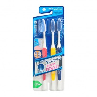 SYSTEMA Spiral Toothbrush Pack large Head 3'S