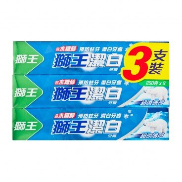 FRESH & WHITE - Toothpaste Pack extra Cool Mint - 200GX3