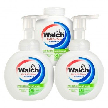 WALCH - Antibacterial Foaming Hand Wash Moisturizing value Pack free Wet Wipes - 300MLX3+10'S
