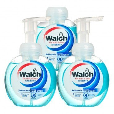 WALCH Antibacterial Foaming Hand Wash refreshing Value Pack free Wet Wipes 300MLX3+10'S