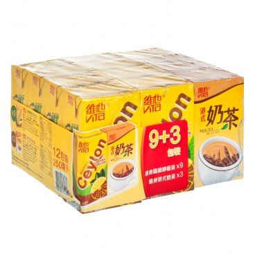 VITA - Assorted Pack Ceylon Lemon Tea Milk Tea - 250MLX12