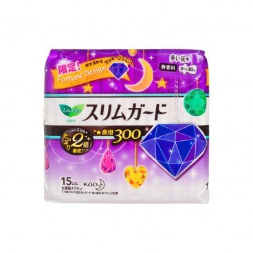 LAURIER - S Series Ultra thin Overnight Sanitary Napkin 30 cm Japanese Version - 15'S
