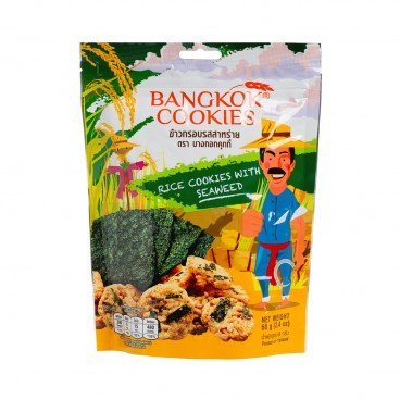 BANKGKOK COOKIES Rice Cookies With Seaweed 68G