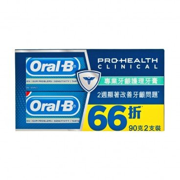 ORAL B - Tp Ph Clinical Gum Pro fresh twin Pack - 90GX2