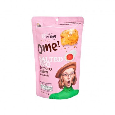 OME Salted Egg Potato Chips 45G