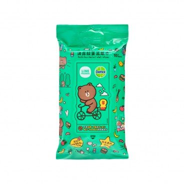 DETTOL Dettol X Line Friends Anti Bacterial Wet Wipes 10'S