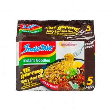 INDOMIE - Mi Goreng spicy Beef Ribs Flavored - 80GX5