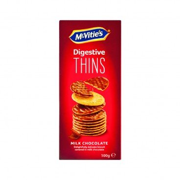MCVITIE'S Thins Milk Chocolate 100G