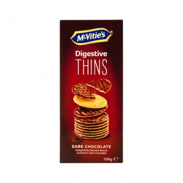 MCVITIE'S Thins Dark Chocolate 100G