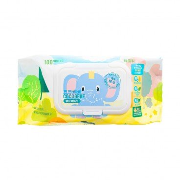 COCOBEBE - Elephant Baby Wet Wipes With Cap - 100'S