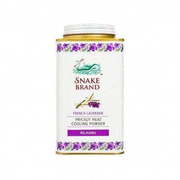SNAKE BRAND - Prickly Heat Cooling Powder Lavender - 140G