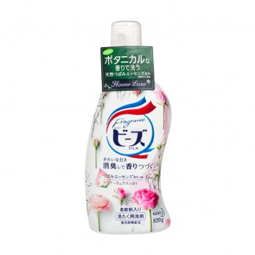KAO - Gel Liquid Detergent Bottle rose - 820G