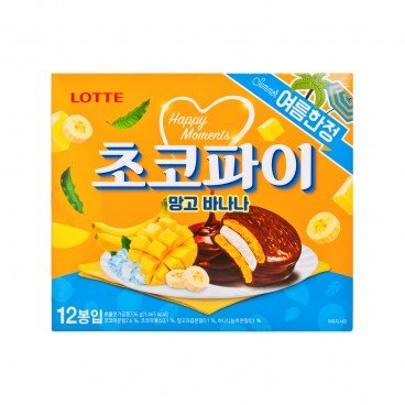 LOTTE Chocolate Pie mango Banana 28GX12