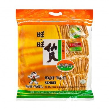 WANT WANT - Senbei Rice Creacker Jumbo Pack - 400G