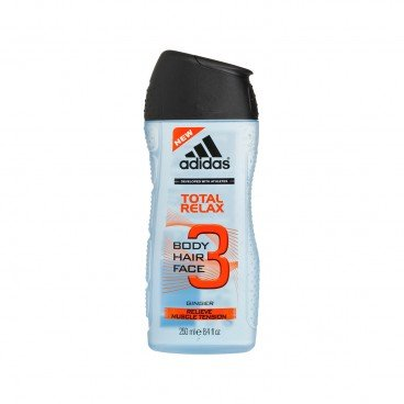 ADIDAS Total Relax 3 in 1 Body Hair And Face Shower Gel 250ML