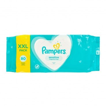 PAMPERS幫寶適 - Wet Wipes Sensitive Fragrance free - 80'S