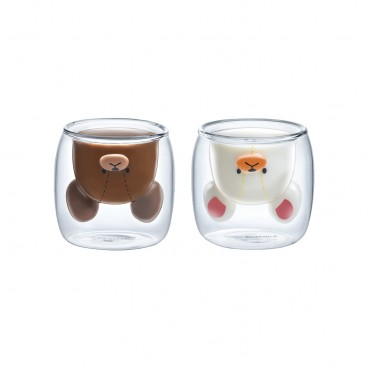 THE BEARS' SCHOOL Double Wall Glass Set PC
