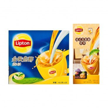 LIPTON Milk Tea Gold Hong Kong Style Cafe Milk Tea 20'S+4'S