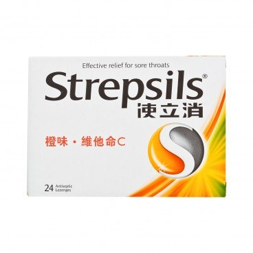 STREPSILS - Orange With Vitamin C Lozenge - 24'S
