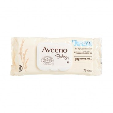 AVEENO - Baby Wipes - 72'S