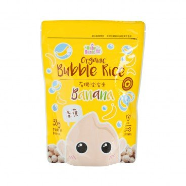 BABY BASIC - Organic Bubble Rice Banana - 38G