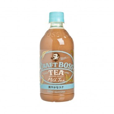 SUNTORY - Craft Boss less Sugar Milk Tea - 500ML