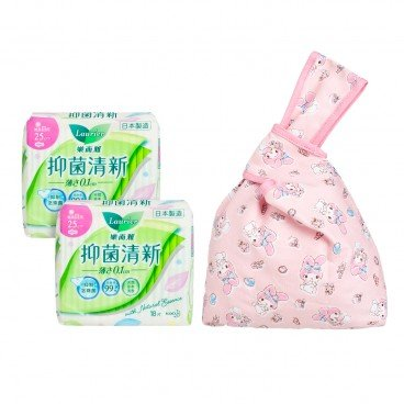 LAURIER - Antibac U slim Day 25 cm Twin Pack free My Melody Mini Bag - 16'SX2