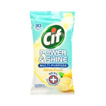 CIF(PARALLEL IMPORT) - Citrus Fresh Power And Shine Multi Purpose Wipes - 30'S