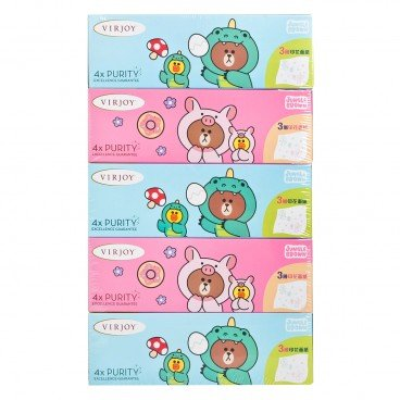 VIRJOY - Line Friends 3 ply Printed Box Tissue - 5'S