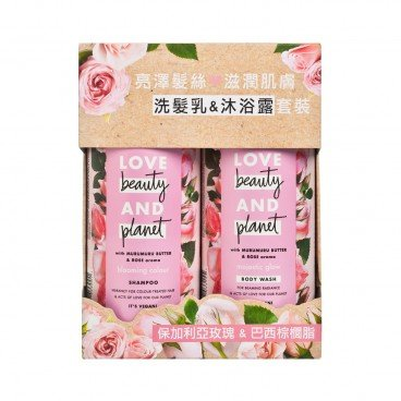 LOVE BEAUTY&PLANET - Blooming Colour Shampoo And Boby Wash Pack rose - 400MLX2