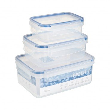 COOK & EAT - Plastic Food Storage 3 pc Set - SET