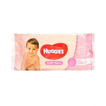 HUGGIES(PARALLEL IMPORT) - Wipes Soft Skin Vitamin E - 56'S