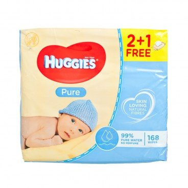 HUGGIES(PARALLEL IMPORT) - Pure Wipes Triple 2 1 - 56'SX3