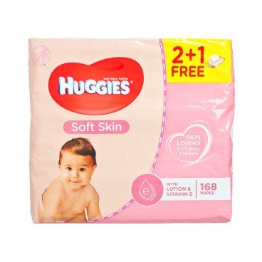HUGGIES(PARALLEL IMPORT) - Soft Skin Wipes Triple 2 1 - 56'SX3
